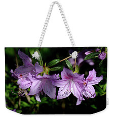 Weekender Tote Bag featuring the photograph Buds And Blooms by Angie Tirado