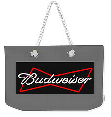 Budweiser T-shirt Weekender Tote Bag by Herb Strobino