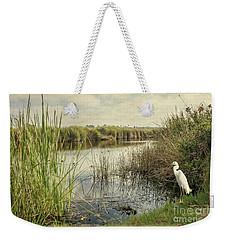 Buena Vista Lagoon-snowy Egret Weekender Tote Bag