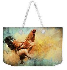 Buff Brahma Mrs. Darwin's Rooster  Weekender Tote Bag