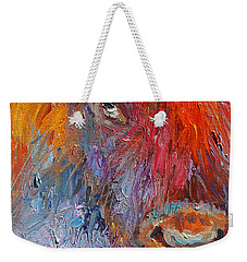 Buffalo Bison Wild Life Oil Painting Print Weekender Tote Bag by Svetlana Novikova