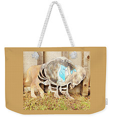 Weekender Tote Bag featuring the photograph Buffalo Dreams by Larry Campbell