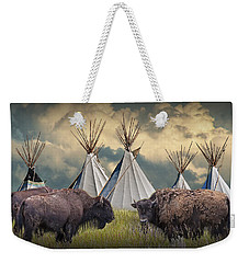 Buffalo Herd On The Reservation Weekender Tote Bag