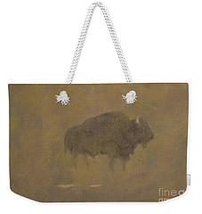Buffalo In A Sandstorm Weekender Tote Bag by Albert Bierstadt