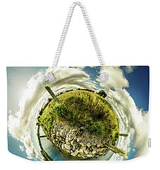 Buffalo Outer Harbor Sunrise - Tiny Planet Weekender Tote Bag