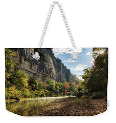 Buffalo River Morning Weekender Tote Bag by James Barber