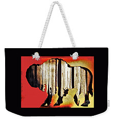 Weekender Tote Bag featuring the photograph  Wooden Buffalo 3 by Larry Campbell