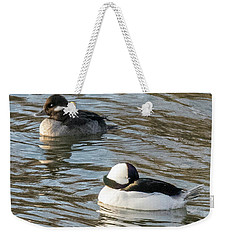 Bufflehead Pair Swimming Weekender Tote Bag