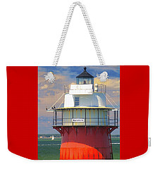 Bug Light Plymouth Weekender Tote Bag by Amazing Jules