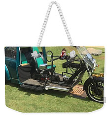 Weekender Tote Bag featuring the photograph Bug Trike by Aaron Martens