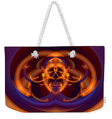 Weekender Tote Bag featuring the digital art Bugged by Lynda Lehmann