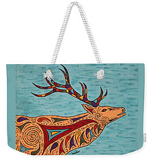 Weekender Tote Bag featuring the painting Bugle Boy by Susie WEBER