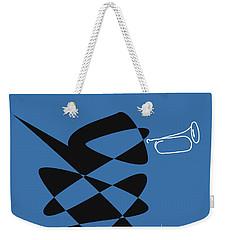 Weekender Tote Bag featuring the digital art Bugle In Blue by David Bridburg