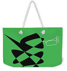Weekender Tote Bag featuring the digital art Bugle In Green by David Bridburg