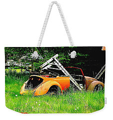 Weekender Tote Bag featuring the photograph Bugsy by Sadie Reneau