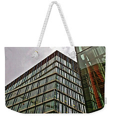 Weekender Tote Bag featuring the photograph Building 5 by Anne Kotan