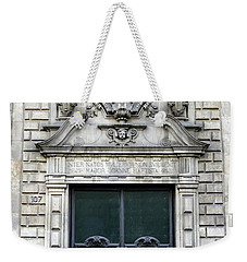 Building Artwork And Old Door In Barcelona Weekender Tote Bag