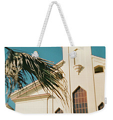 Building Behind Palm Tree In Ostia, Rome Weekender Tote Bag