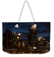 Weekender Tote Bag featuring the photograph Building Boom Midtown Atlanta Construction Art by Reid Callaway