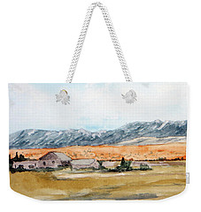 Buildings On A Colorado Ranch With Mountain Landscape Weekender Tote Bag by R Kyllo