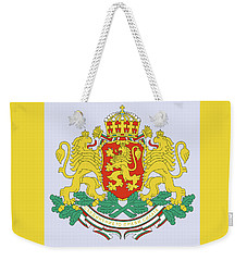 Weekender Tote Bag featuring the drawing Bulgaria Coat Of Arms by Movie Poster Prints