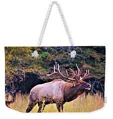 Bull Calling His Herd Weekender Tote Bag
