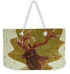 Bull Elk Weekender Tote Bag