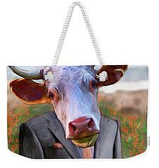 Bull Headed Weekender Tote Bag