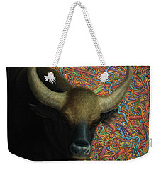 Bull In A Plastic Shop Weekender Tote Bag