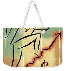 Weekender Tote Bag featuring the painting Bull Market by Leon Zernitsky
