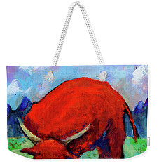 Bull On The River Weekender Tote Bag by Maxim Komissarchik