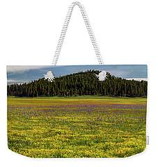 Weekender Tote Bag featuring the photograph Bull Prairie by Leland D Howard