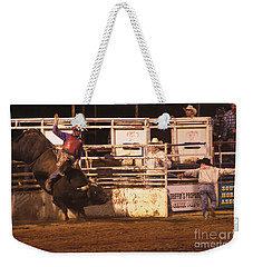 Bull Riding 2 Weekender Tote Bag by Natalie Ortiz
