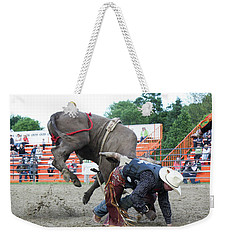 Bull Riding Action Weekender Tote Bag
