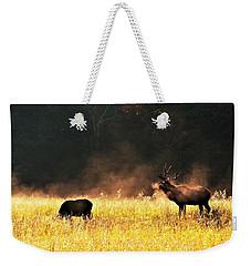 Bull With His Girl Weekender Tote Bag