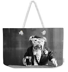 Weekender Tote Bag featuring the photograph Bulldog, C1905 by Granger