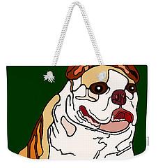 Bulldog Weekender Tote Bag by Marian Cates