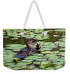 Bullfrog For Breakfast Weekender Tote Bag by I'ina Van Lawick