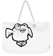Weekender Tote Bag featuring the digital art Buma by Uncle J's Monsters