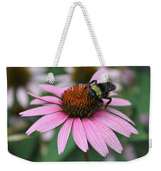 Bumble Bee On Pink Cone Flower Weekender Tote Bag