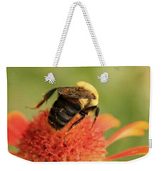 Weekender Tote Bag featuring the photograph Bumblebee by Chris Berry