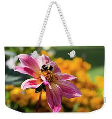 Bumblebee On Orange Weekender Tote Bag