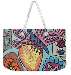 Weekender Tote Bag featuring the painting Bumblefly by Brandon Drucker