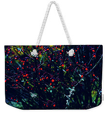 Weekender Tote Bag featuring the photograph Reds by Gene Garnace