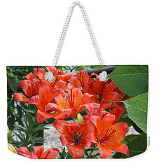Bunch Of Lilies Weekender Tote Bag by Catherine Gagne