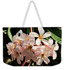 Bunch Of Plumeria Weekender Tote Bag by Pamela Walton