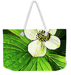 Bunchberry Blossom Weekender Tote Bag