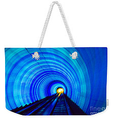 Weekender Tote Bag featuring the photograph Bund Tunnel Lights by Angela DeFrias