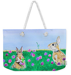 Bunnies In Clover Weekender Tote Bag