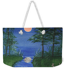 Bunnies In The Garden At Midnight Weekender Tote Bag